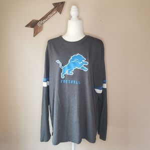 Detroit Lions Logo Long Sleeve Tee
